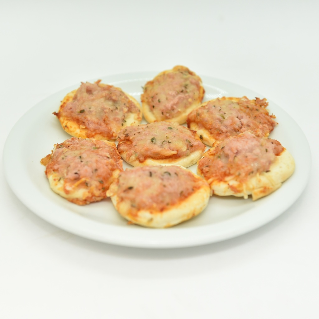 MINI PIZZA DE QUEIJO E PRESUNTO